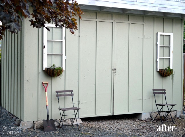 Quick Garden Shed Makeover After