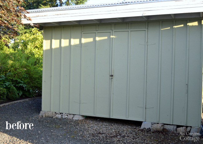 Quick Garden Shed Makeover Before