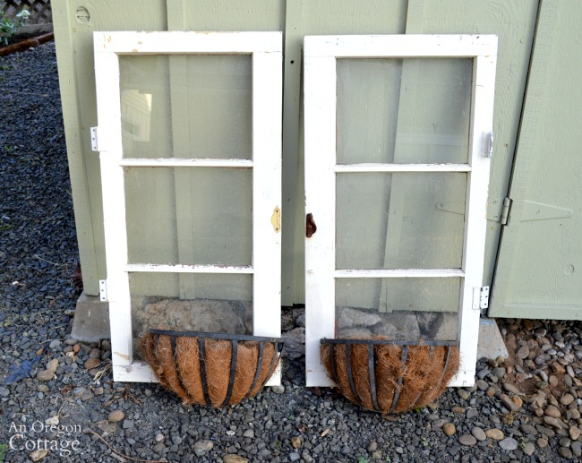 Quick Garden Shed Makeover Windows And Baskets