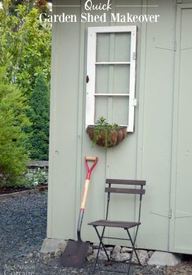 Quick Garden Shed Makeover