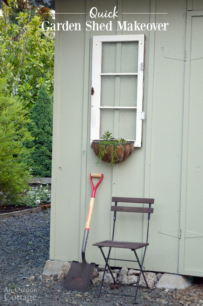 Gentil Quick Garden Shed Makeover With Vintage Windows And Sedum Baskets