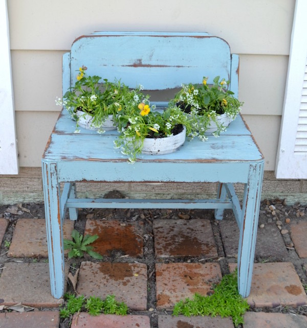 Upcycled Garden Bench Planter