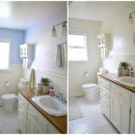 Bathroom Before and After Painting