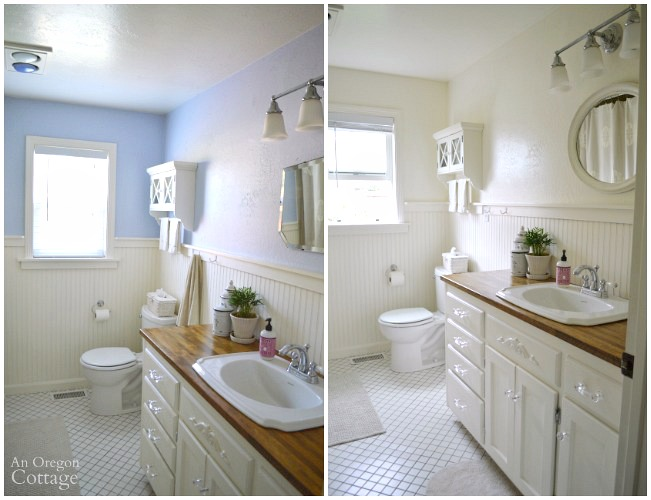 Bathroom Before And After Paint : Three things paint makeover watering tip