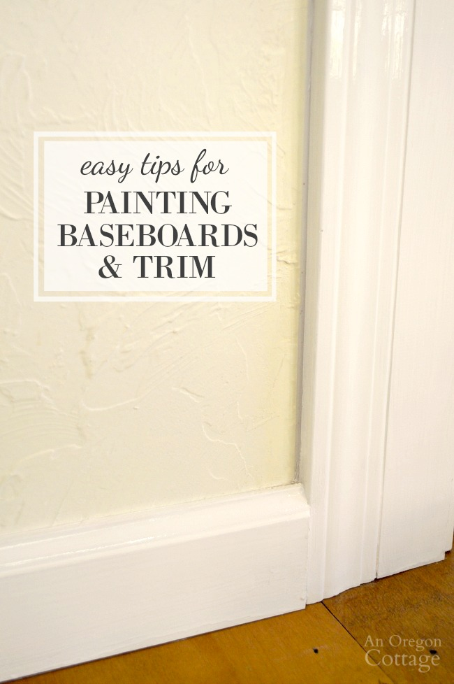 Painting baseboards and trim with touch-up paint is one of the best ways to refresh a room and make it sparkle before big events or preparing to sell.
