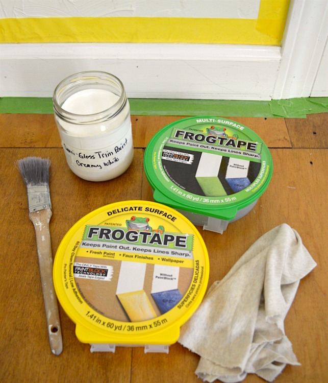 Painting Baseboards-supplies