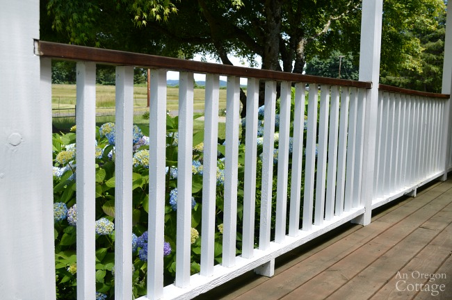 Painted Porch rail 6-16 update