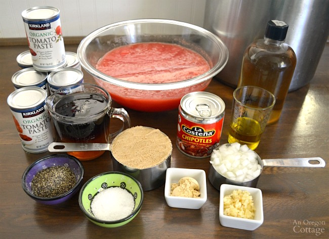 Easy Canned Chipotle BBQ Sauce recipe ingredients