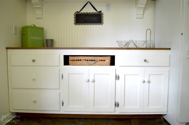 Mudroom Makeover after-cabinets