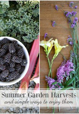 Summer Garden Harvests & Simple Ways to Enjoy Them