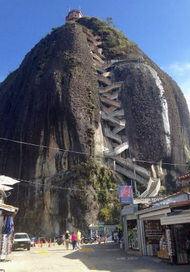 Guatape-Colombia rock with stairs to top