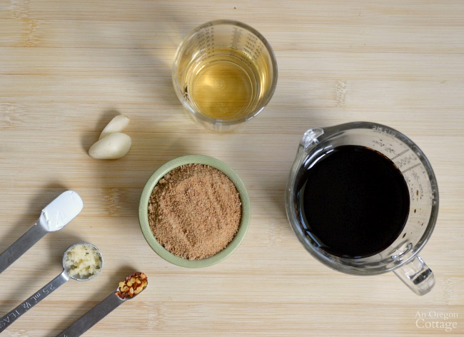 Homemade Teriyaki Sauce ingredients