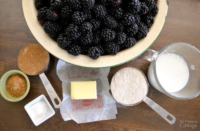 Whole Wheat Skillet Blackberry Cobbler ingredients
