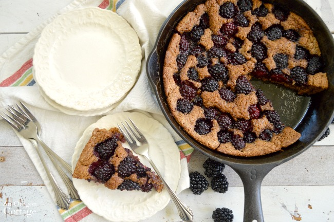 Whole Wheat Skillet Blackberry Cobbler