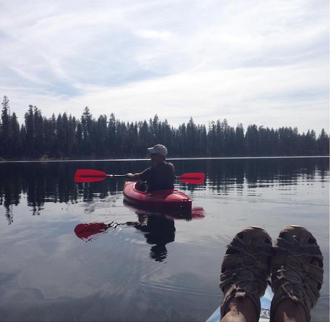 B-J kayaking South Twin Lake_2016