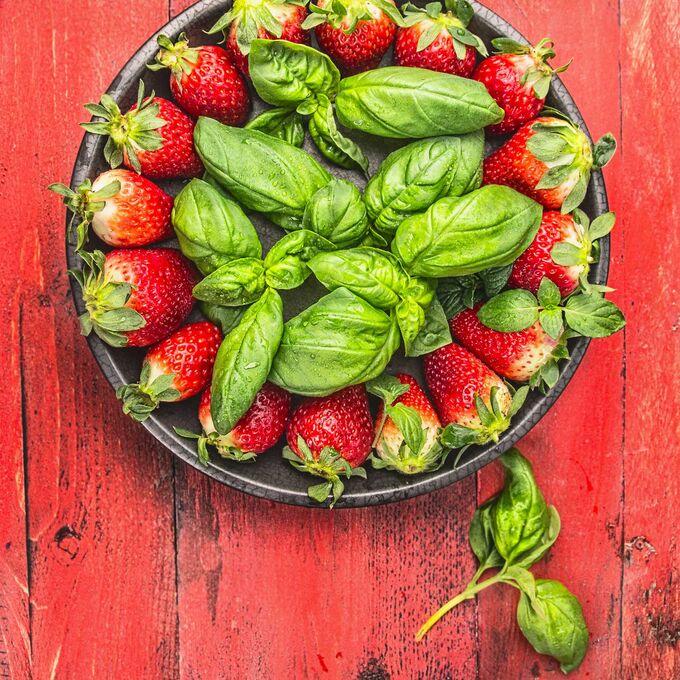 "Strawberry Basil ""Sorbet"" via Sur La Table"