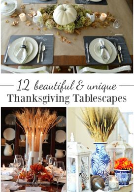 12 beautiful and unique Thanksgiving tablescapes for your holiday celebration