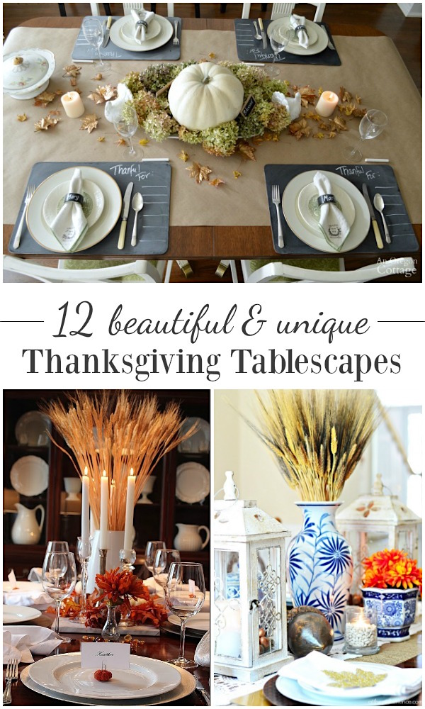 12 beautiful and unique Thanksgiving tablescapes
