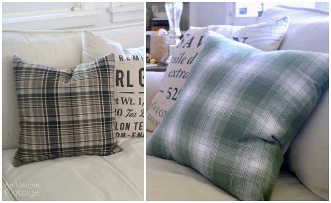 Handmade gift idea: Easy envelope pillows + more gift ideas at AnOregonCottage.com