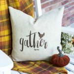Easy stenciled pillow cover & more stencil gift ideas