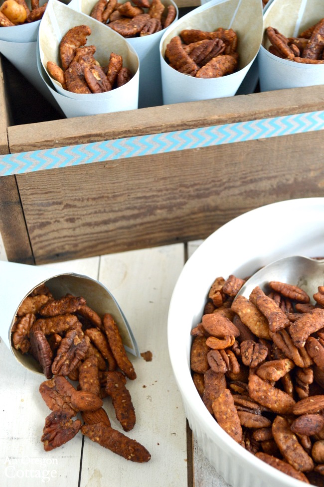 Sriracha-Honey Nut Mix - for game day or any day
