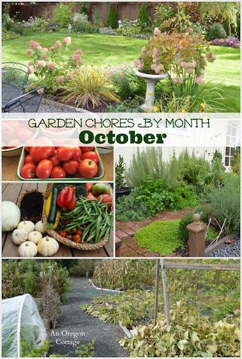October Garden Chore Checklist