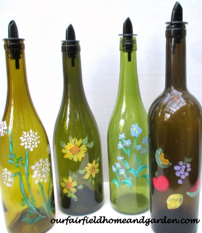 Upcycled Bottles for Kitchen and Laundry via Our Fairfield Home