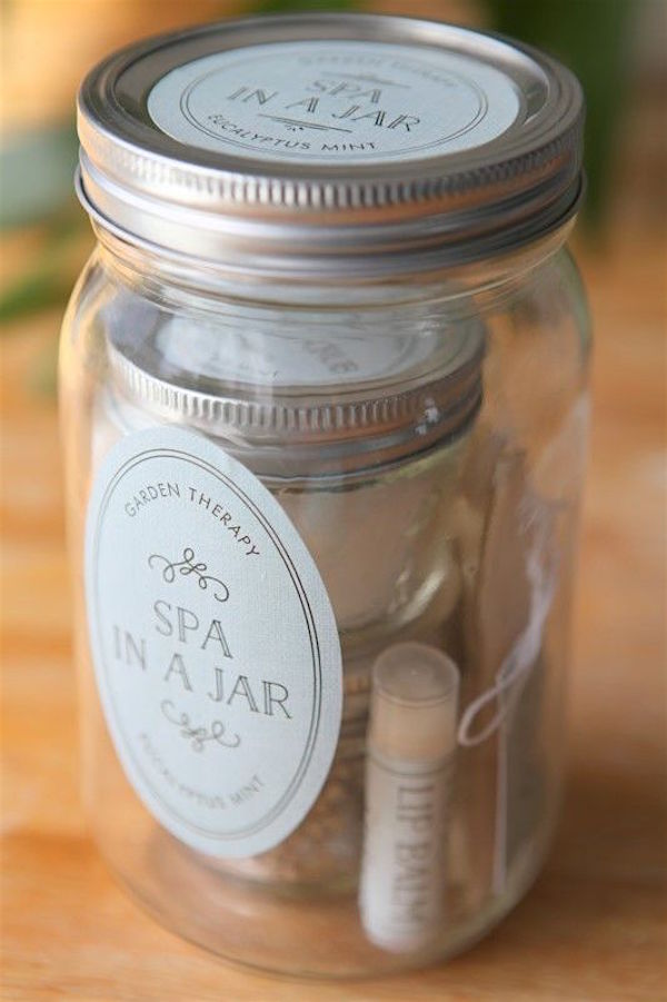 Homemade Spa Gift in a Jar