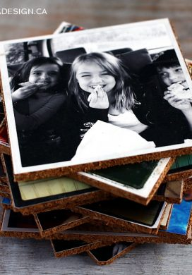 Handmade gift idea #16- DIY Photo Coasters via AKA Design at AnOregonCottage.com