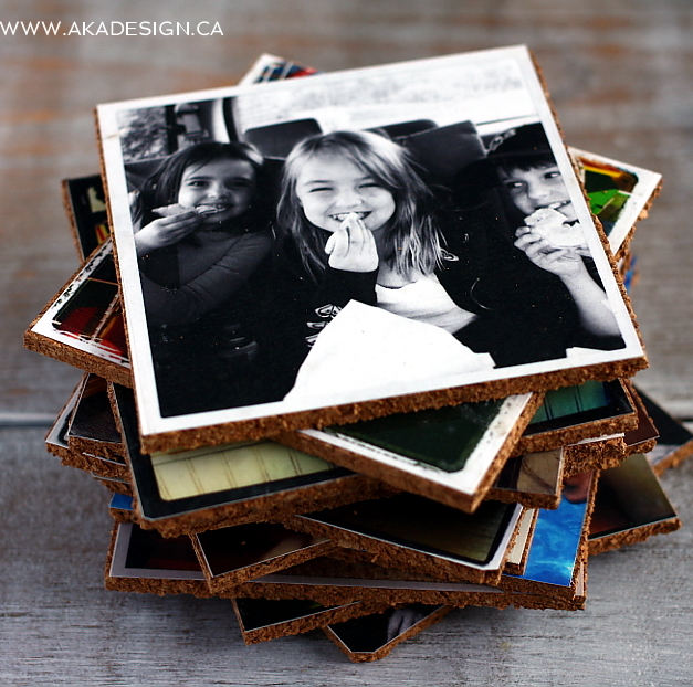 DIY Photo Coasters via AKA Design