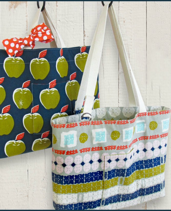 DIY Tote Bags via Sew 4 Home
