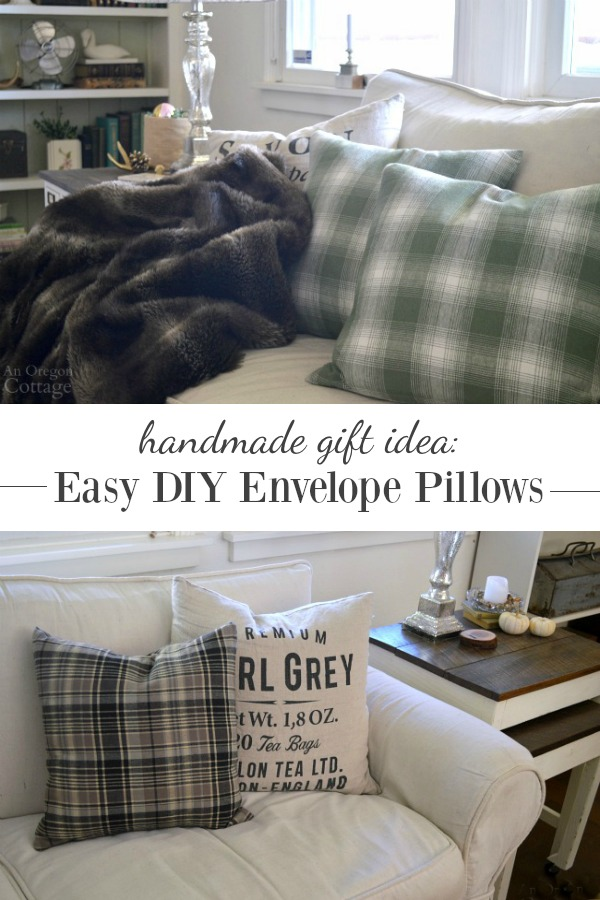 Easy-sew envelope pillows