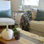 Simple Fall Decor-Moss Green-White Pumpkins