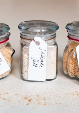 Handmade Gift Idea #28-Flavored salt sets via Popsugar on AnOregonCottage