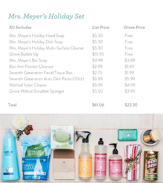 holiday cleaning tips free mrs meyer 39 s with grove collaborative. Black Bedroom Furniture Sets. Home Design Ideas
