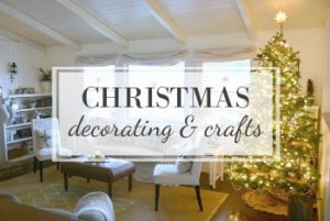 Christmas decorating and crafts