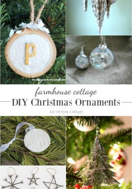 Farmhouse Cottage DIY Christmas Ornaments