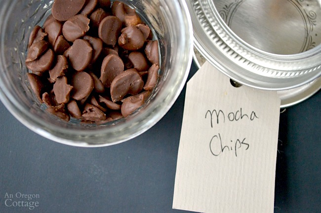Ice Cream Sundae Kit-mocha chips label