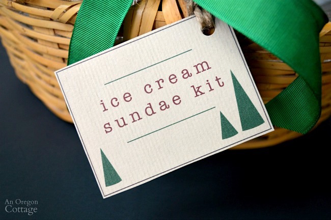 Ice Cream Sundae Kit-printable labels