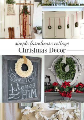DIY projects and room tours for inspiration to help create a clean and simple farmhouse cottage Christmas Decorating theme at AnOregonCottage.com