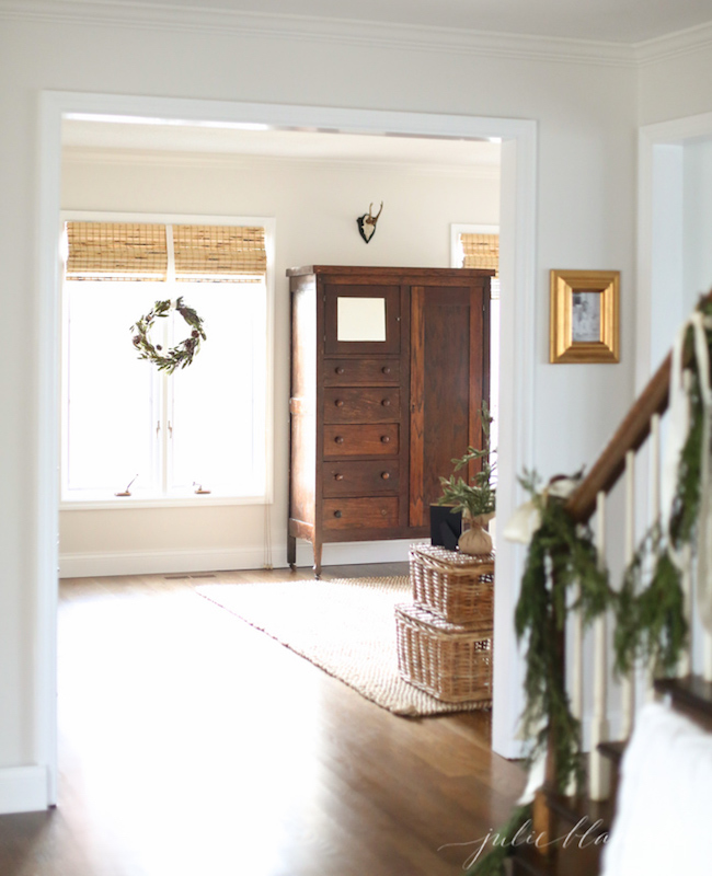 Simple decorating-for-christmas via Julie Blanner