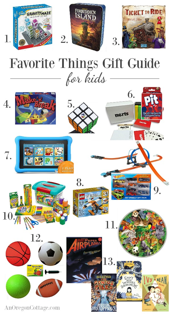 Gift guide for kids, recommended by kids so you know these gifts will be a hit.