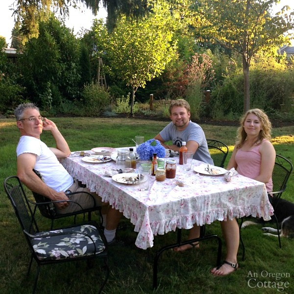 Family Traditions-outdoor summer meal