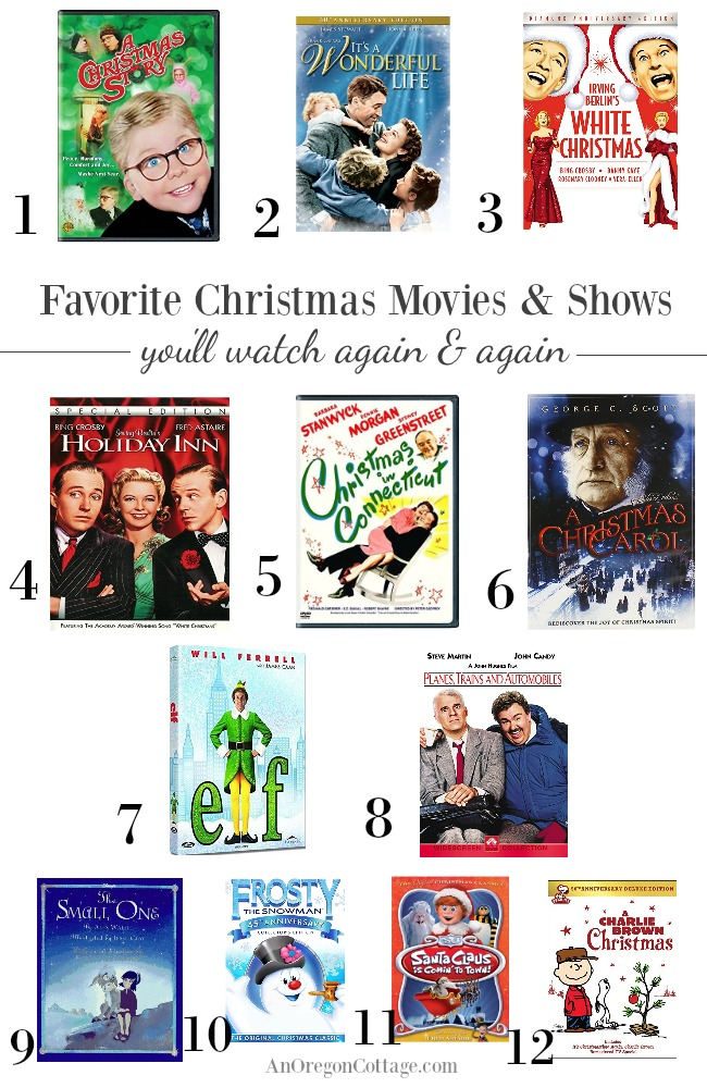Family favorite Christmas movies and TV shows you'll watch again and again from AnOregonCottage.com