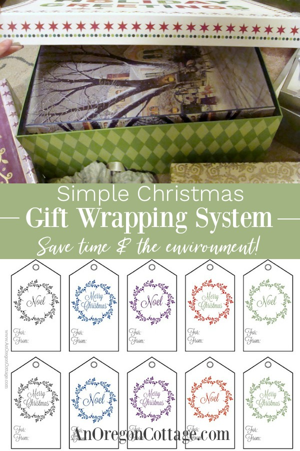 Simple Christmas gift wrapping system pin image