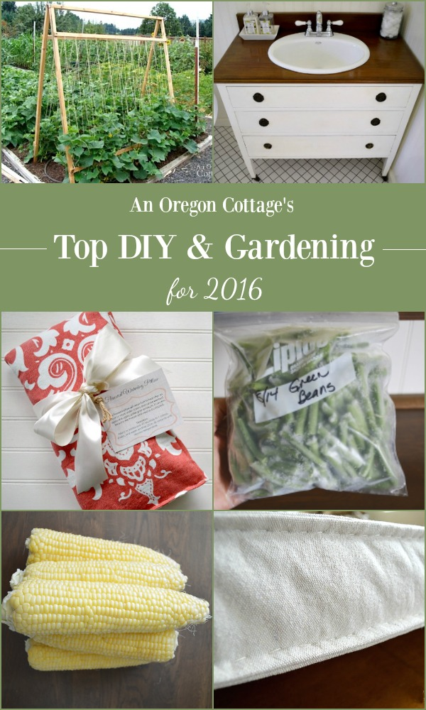 The top garden and DIY projects for 2016 from An Oregon Cottage blog