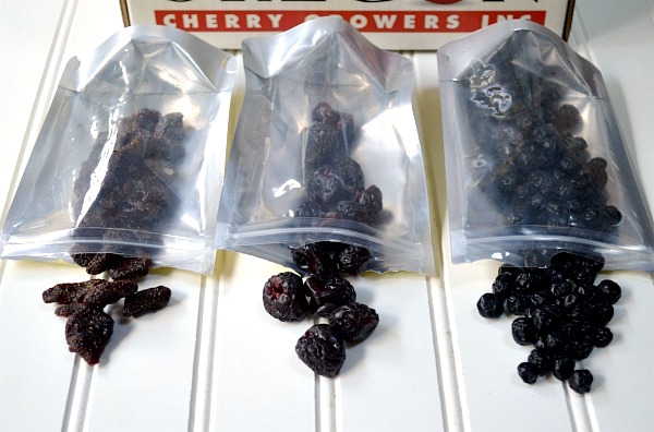 3 dried fruits from Oregon Cherry Growers