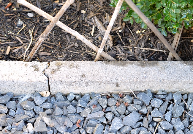 Cement Garden Edging connected together