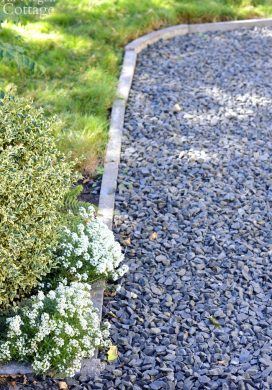 Easy Inexpensive Cement Garden Edging for Beds & Paths