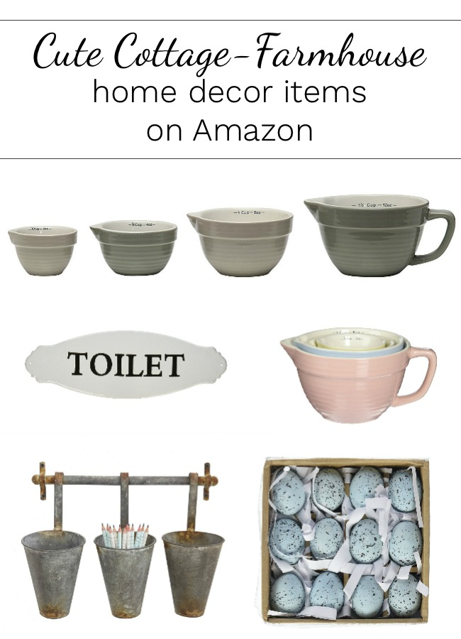 Three things farmhouse measuring cups hidden for Cute decor items